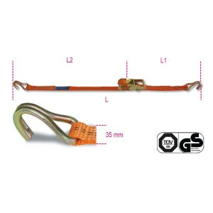 Beta 8181 Ratchet tie down with single hook, LC 1000kg