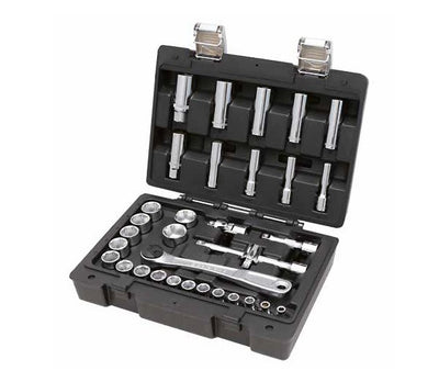 "913E/C33 3/8"" Drive 33 Piece Hexagon Socket and Accessory Set Beta Easy"