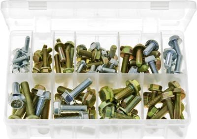 AB133 - Assortment Box of Serrated Flanged Set Screws High Tensile - Metric
