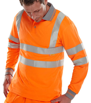Long Sleeve Polo Shirt Hi-Vis EN ISO 20471  BPKSLSEN