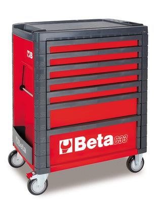 Beta Tool boxes C33/7  Mobile roller cab with seven drawers