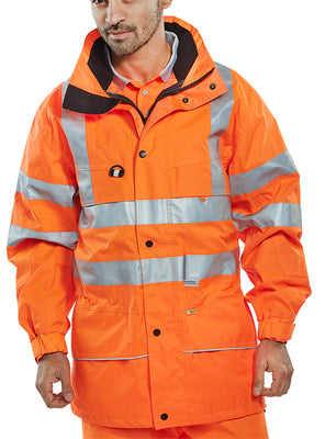 CAROR CARNOUSTIE W/P JACKET ORANGE 471