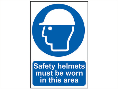 Safety Helmets Must Be Worn In This Area - PVC 200 x 300mm SCA0002