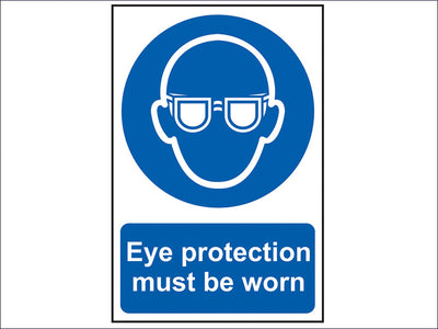 Eye Protection Must Be Worn - PVC 200 x 300mm SCA0007
