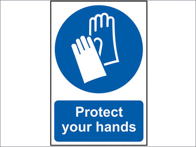 Protect Your Hands - PVC 200 x 300mm SCA0023