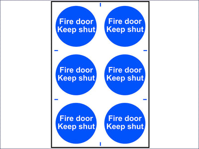 Fire Door Keep Shut - PVC 200 x 300mm SCA0151