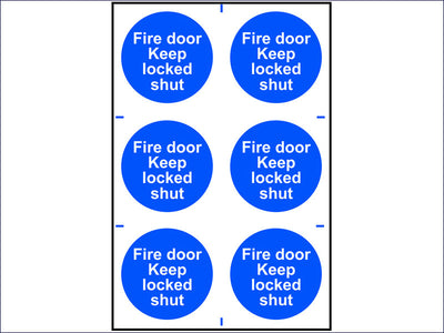 Fire Door Keep Locked Shut - PVC 200 x 300mm SCA0153