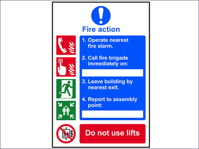 Fire Action Procedure - PVC 200 x 300mm SCA0175