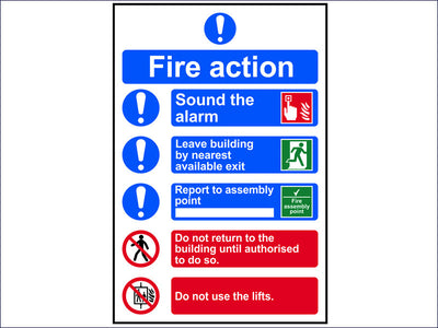 Fire Action Procedure - PVC 200 x 300mm SCA0178