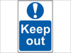 Keep Out - PVC 200 x 300mm SCA0255