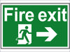 Fire Exit Running Man Arrow Right - PVC 300 x 200mm SCA1504