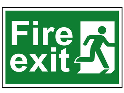 SCA1507 Fire Exit Man Running Right - PVC 300 x 200mm