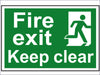 SCA1513 Fire Exit Keep Clear - PVC 300 x 200mm