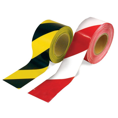 Barrier Tape Red/White - Black/Yellow