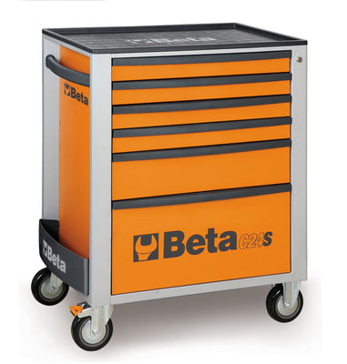 Beta toolboxes C24S/6 Mobile roller cab with six drawers