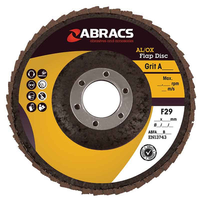 Abracs AL/OX Flap Disc 115mm Trade ABFA115B/Grit