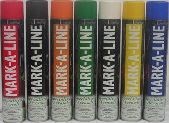 MARK A LINE AEROSOL VARIOUS COLOURS 750ml
