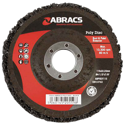 Abracs ABPOLY115 Poly Disc for Rust and Paint Removal Black 115mm