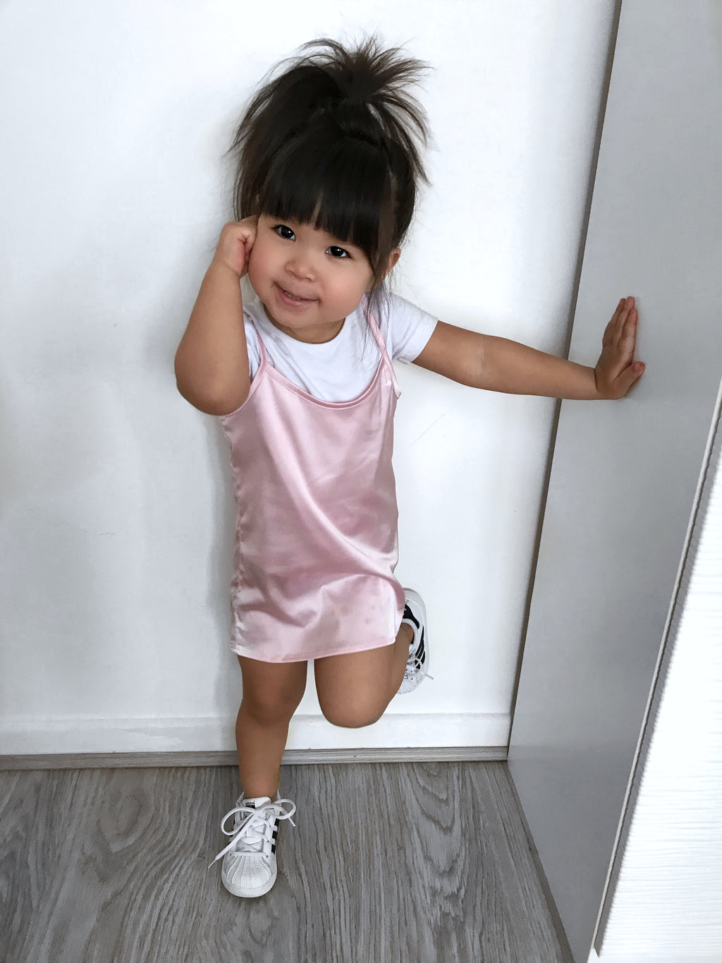 Satin slip dress - CHILD