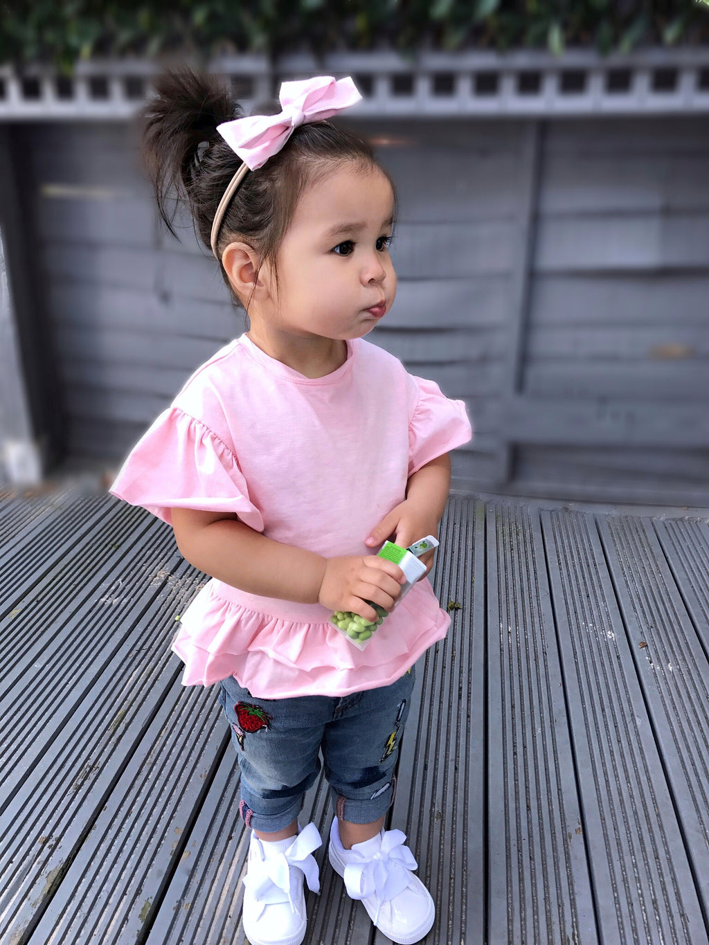 Frilled pink top - CHILD