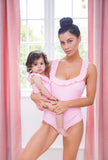 Pink frilled swimsuit - CHILD
