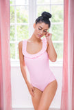 Pink frilled swimsuit - ADULT