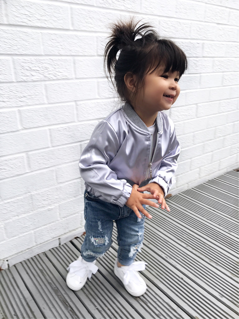 Satin bomber jacket - CHILD