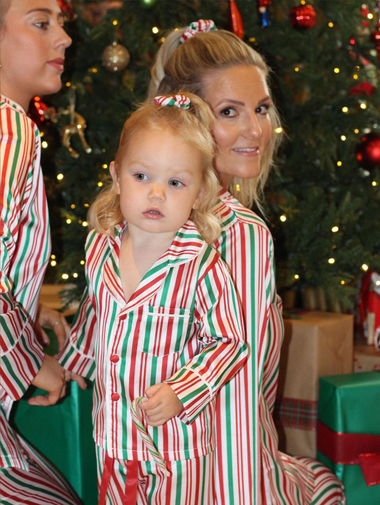 CANDY CANE satin pyjamas - CHILD