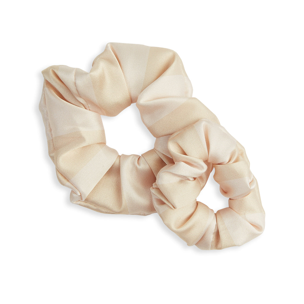 GOLD LUXE satin scrunchies - CHILD & ADULT