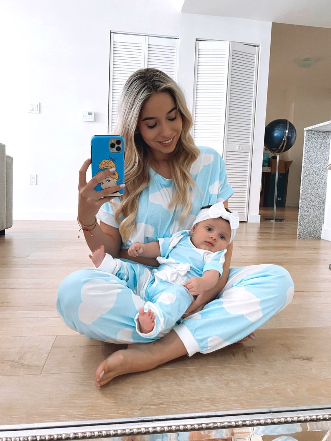 Blue cloud pyjamas - ADULT