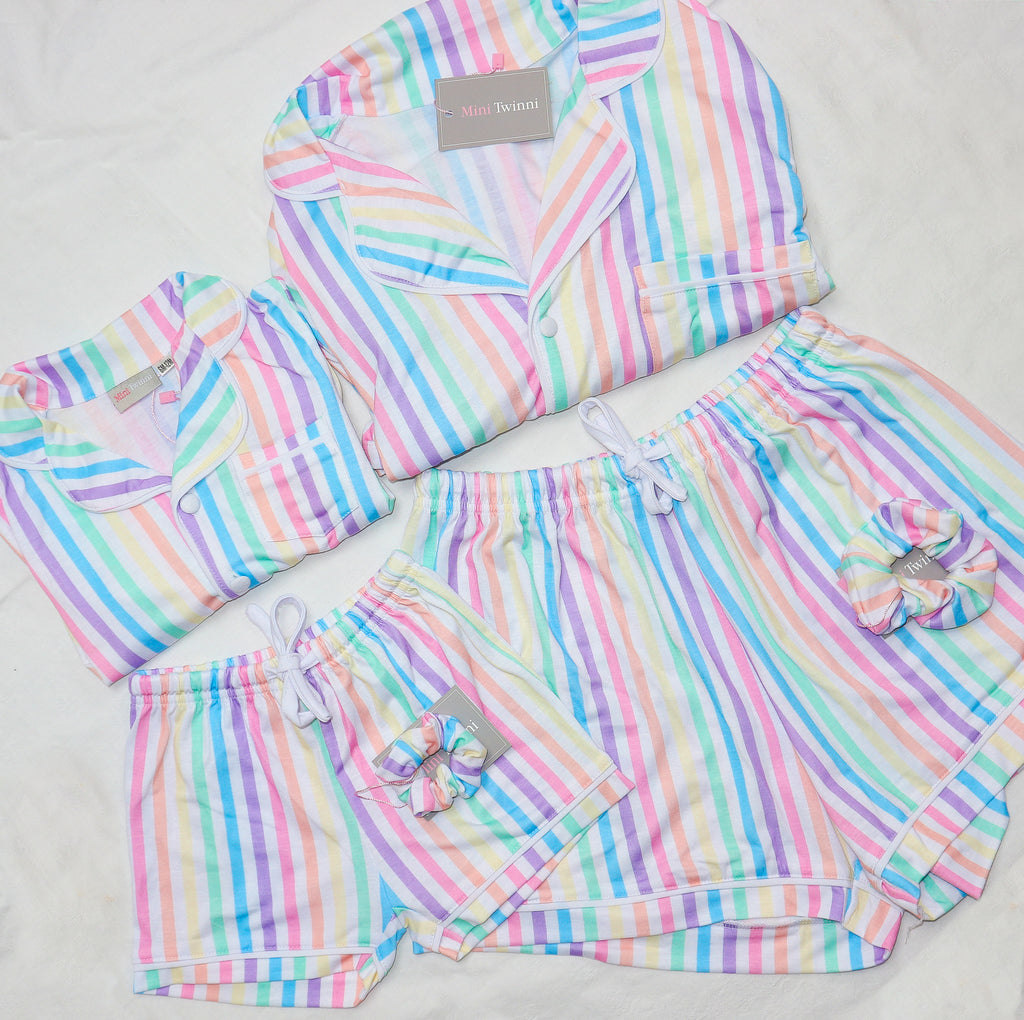 Rainbow striped pyjamas - ADULT