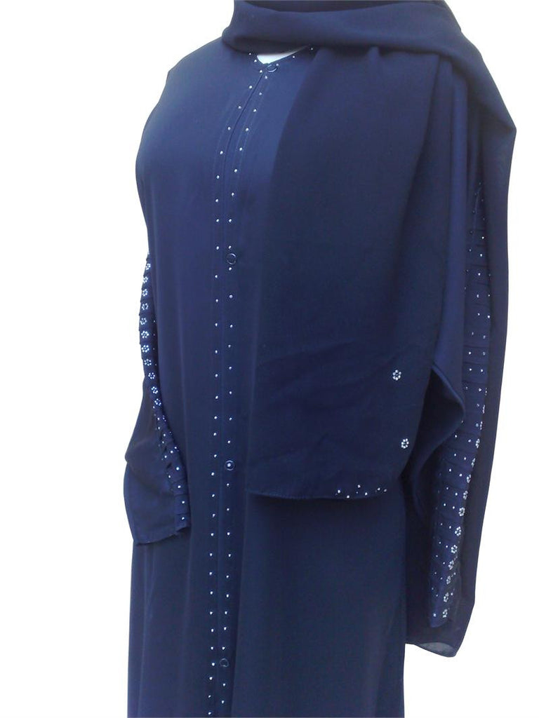 Sharjah Abaya with Beaded Sleeves - Muslim Clothing