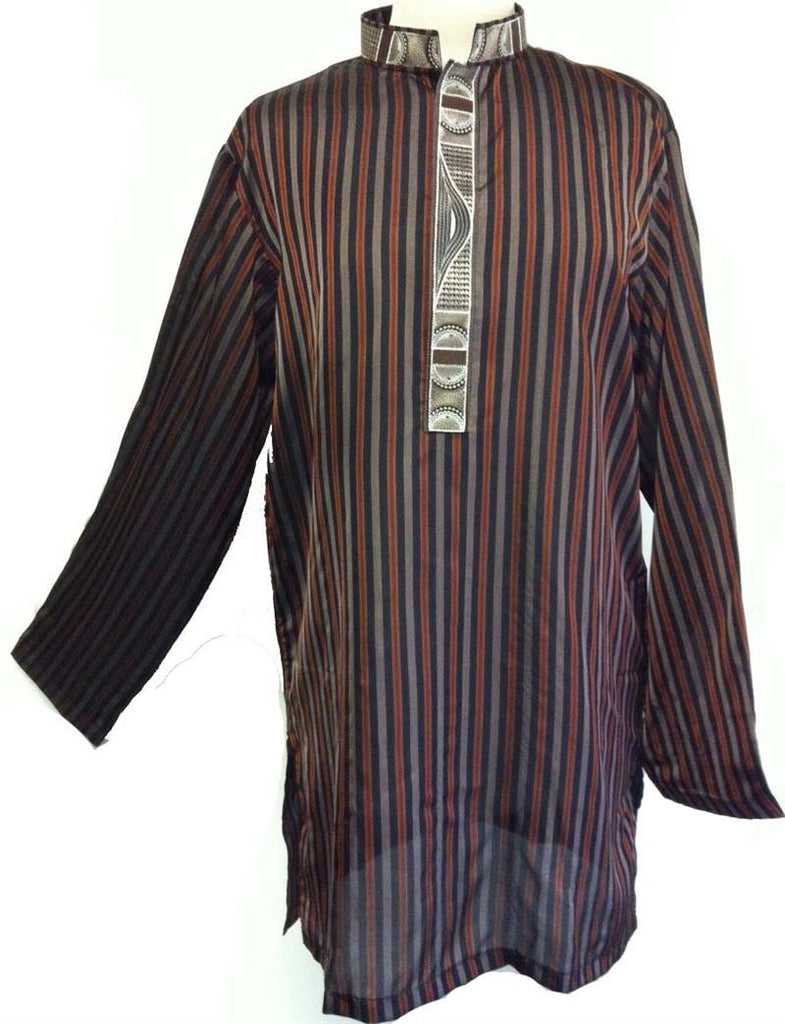 Fancy Men's Embroidered Pakistani Kurta - Arabic Clothing