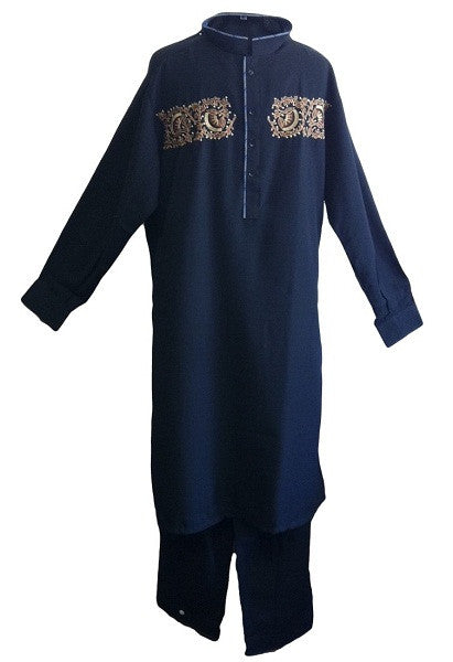Islamic Clothing - Pakistani Embroiderd Men's Salwar Kameez