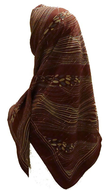 "Turkish Scarf ""Abstract Coast"" Art - Muslim women clothing"