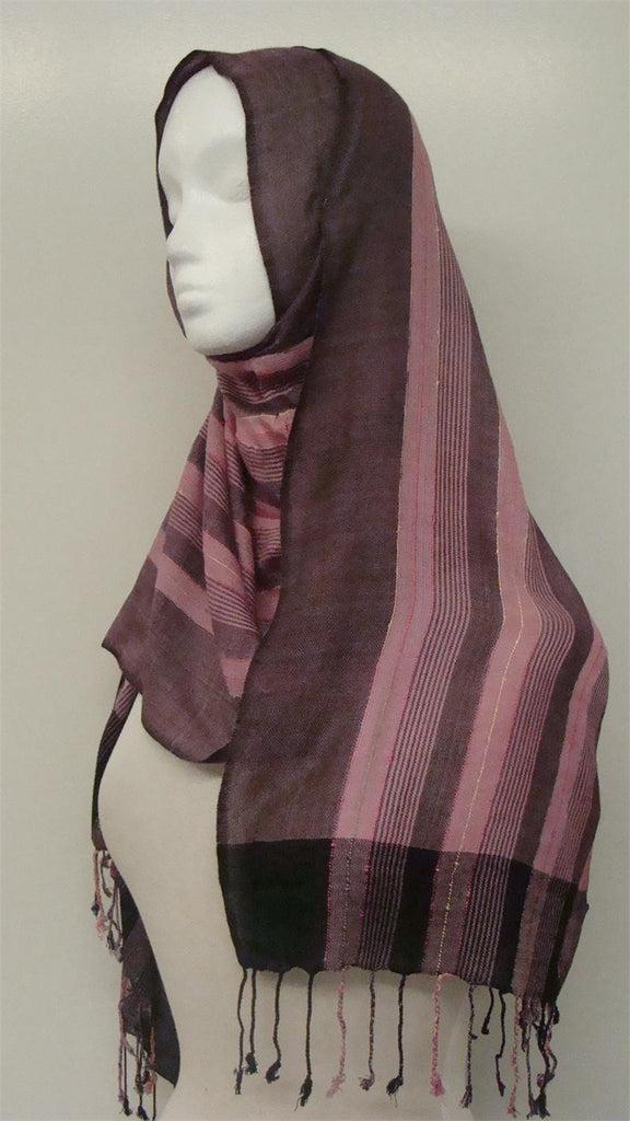 Multi-colored lining Muslim  Shawls