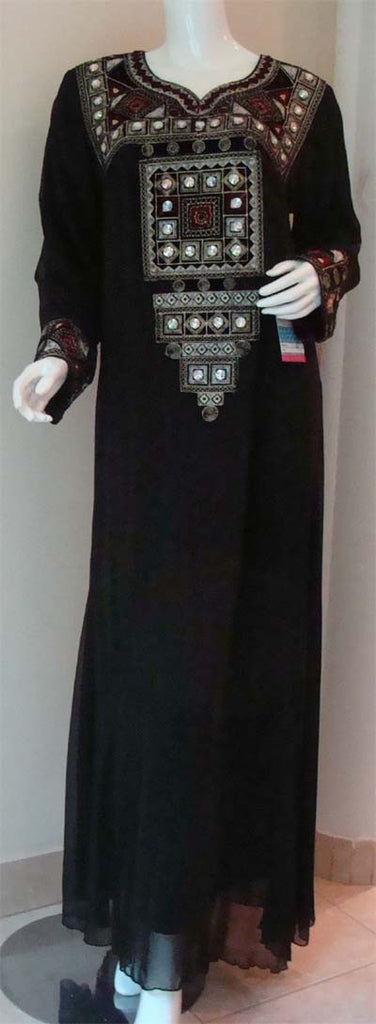 Arabic Allure Evening Maxi Dress - Muslim clothing for women