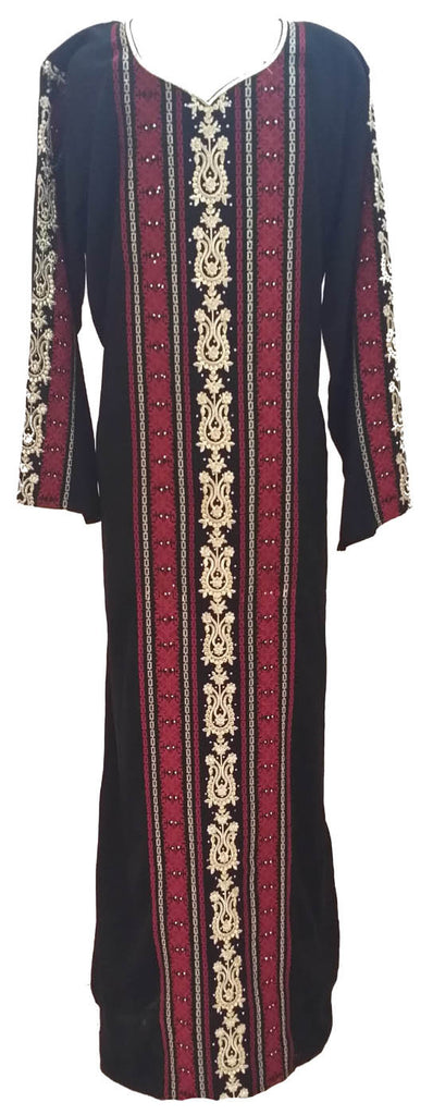 Fancy Abaya Style Black Arabic Dress - Islamic clothing