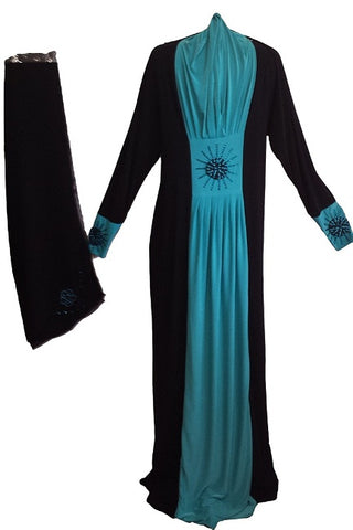 dual colored jeddah abaya