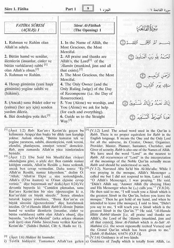 Turkish Quran English Turkish