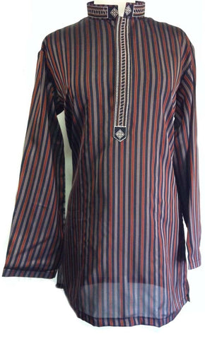 striped Pakistani kurta for men