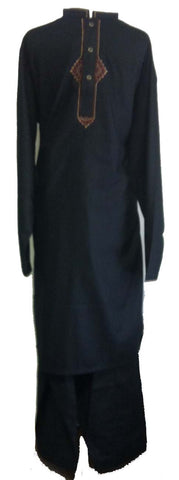 black shalwar kameez islamic dress