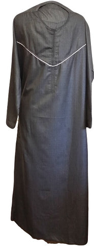 black arabic thobe for men