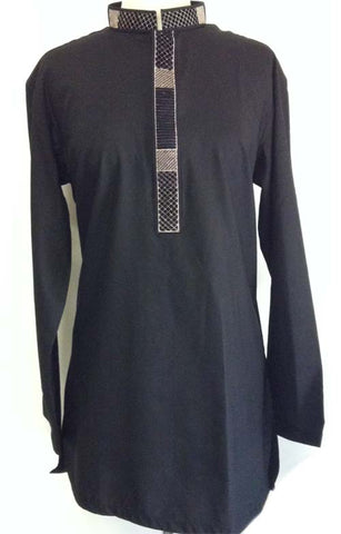 full sleeved embroidered kurta for men
