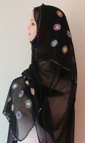 fancy islamic shawl for muslim women