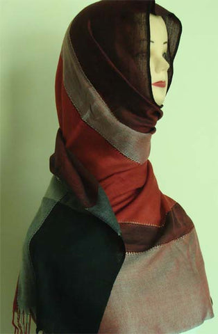 multi tone shawls for muslim women