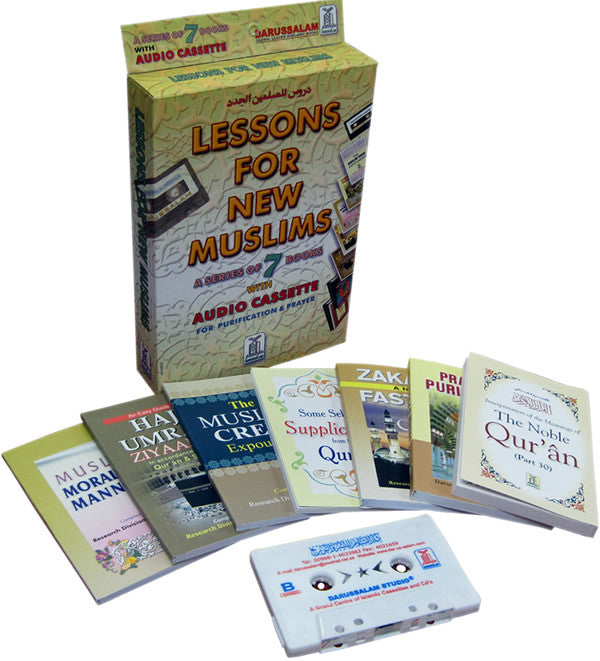 Lessons for New Muslims (7 Books with CD/Tape) - Arabic Islamic Shopping Store