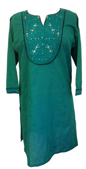 68cfe9d7709f24 Fancy Embroidered Cotton Tunic top with Long sleeves - Arabic Islamic  Shopping Store - 1 ...