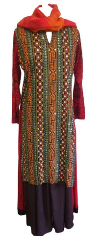 Pakistani Embroidered Shalwar Kameez for Eid - Arabic Islamic Shopping Store - 1