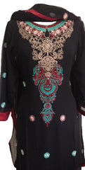 Special Occasions Chiffon Shalwar Kameez with Embroidery - Arabic Islamic Shopping Store - 2